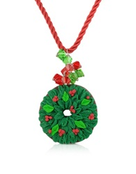Dolci Gioie Christmas Wreath Necklace Green
