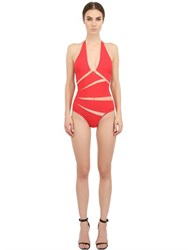 Moeva Tulle And Lycra One Piece Swimsuit