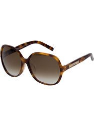 Yves Saint Laurent Vintage Round Frame Sunglasses Brown
