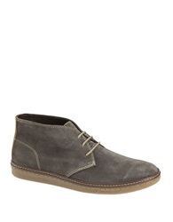 Johnston And Murphy Mcguffey Suede Chukka Sneakers Taupe Grey
