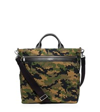 Michael Kors Mens Grant Camouflage Bonded Canvas Tote