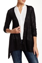 Zoa Button Down Layering Cardigan Black