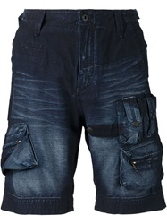 Prps Cargo Denim Shorts Blue
