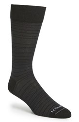 Men's Hook Albert Stripe Socks Black