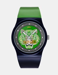 Kenzo Watch With Tiger Head Blue