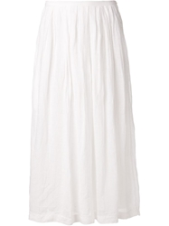 Arts And Science Pleated Skirt White