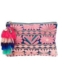 Figue 'Soma' Pouch Floral Clutch Pink Purple