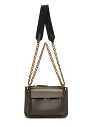 Marni Bandoleer Pocket Crossbody Chain Bag Khaki