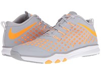 Nike Train Quick Wolf Grey Bright Citrus Blue Cap White Men's Shoes Gray