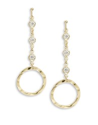 Catherine Stein Hammered Circle Drop Earrings