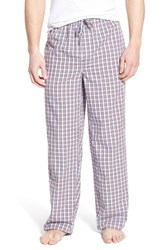 Men's Nordstrom Men's Shop Woven Lounge Pants Burgundy Blue Navy