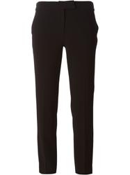 Moschino Cheap And Chic Cropped Slim Fit Trousers Black