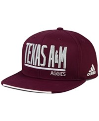 Adidas Texas A And M Aggies Travel Flat Brim Snapback Cap