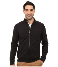 Calvin Klein Color Block Zip Front Ponte Jacket Black Men's Jacket