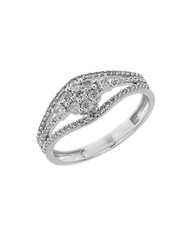 Lord And Taylor Diamond 14K White Gold Ring Silver