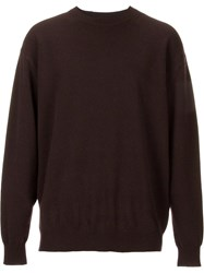 H Beauty And Youth. Crew Neck Jumper Brown