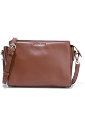 Sandro Amata Leather Shoulder Bag Chocolate