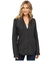 Hurley Seaside Fleece Zip Hoodie Black Heather Women's Fleece