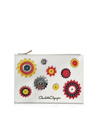 Charlotte Olympia Factory Off White Leather Pouch