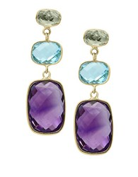 Effy Mosaic Amethyst Topaz And 14K Yellow Gold Drop Earrings