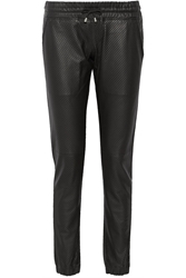 Lot78 Perforated Leather Track Pants