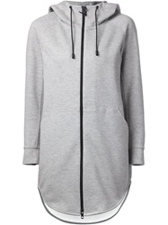 The Reracs Long Hooded Jacket Grey