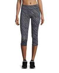 Marc New York Marc Ny Performance Abstract Printed Cropped Leggings Black Multi