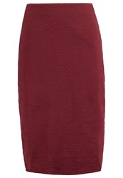 New Look Pencil Skirt Dark Burgundy Dark Red