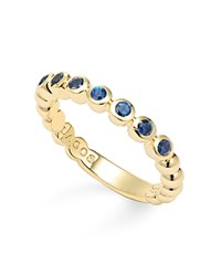 Lagos 18K Gold And Sapphire Stackable Ring Blue Gold