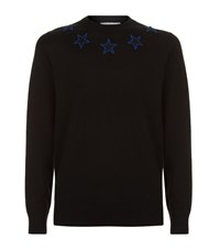 Givenchy Embroidered Star Sweater Male Black