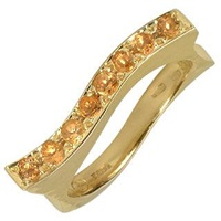 Torrini Mood Quartz Citrines 18K Yellow Gold Ring