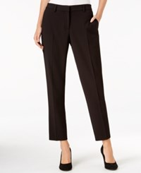 Kensie Crepe Ankle Pants Black