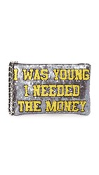 Mua Mua I Was Young I Needed The Money Zip Pouchette Black Yellow