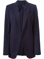 Equipment Pinstripe Blazer Blue