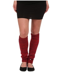 Ugg Classic Marled Leg Warmer Aster Multi Women's Knee High Socks Shoes Red