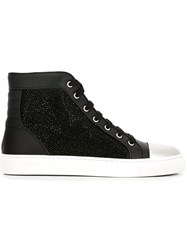 Louis Leeman Swarovski Embellished Hi Tops Black