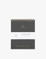 Appointed Desk Calendar Charcoal