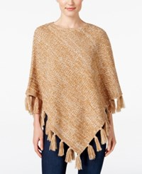Styleandco. Style Co. Boat Neck Fringe Poncho Only At Macy's Salty Nut Warm Ivory