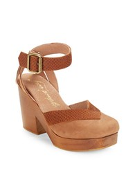 Free People Walk This Way Platform Heels Brown