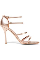 Malone Souliers Rita Metallic Mirrored Leather Sandals