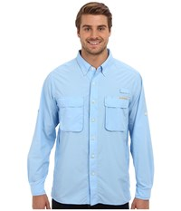 Exofficio Air Strip Long Sleeve Top Light Lapis Men's Long Sleeve Button Up Blue