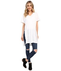 Culture Phit Lucia Short Sleeve Top With Side Slit White Women's Clothing