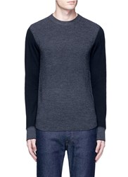 Rag And Bone 'Radford' Contrast Front Thermal Sweater Grey Multi Colour