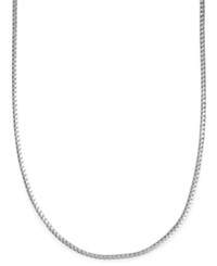 Macy's Men's Sterling Silver Necklace 24' 3Mm Franco Box Chain