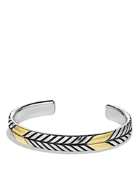 David Yurman Chevron Cuff Bracelet With Gold Silver Gold