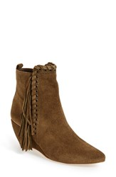 Coconuts By Matisse Women's 'Sissy' Fringe Boot Olive Suede