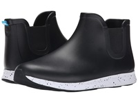 Native Apollo Rain Jiffy Black Shell White Black Speckle Black Rubber Rain Boots