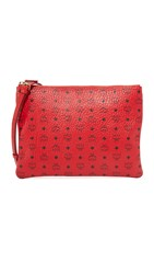 Mcm Medium Cross Body Pouch Ruby Red