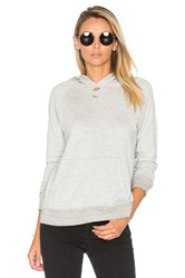 Sundry Distressed Pullover Hoodie Light Gray