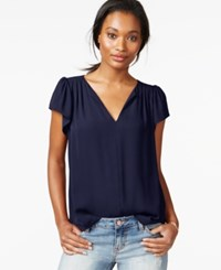 Maison Jules Flutter Sleeve Woven Top Only At Macy's